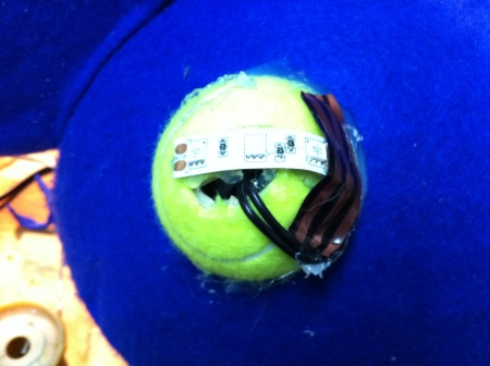 Making good use of the butchered tennis ball